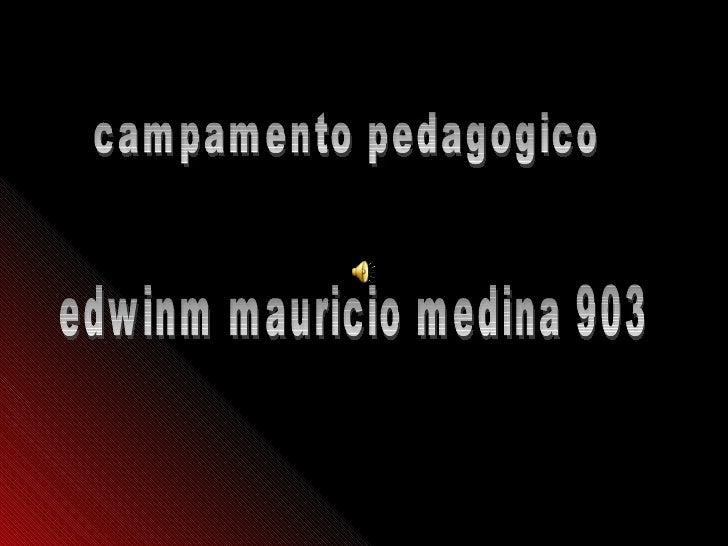 edwinm mauricio medina 903 campamento pedagogico
