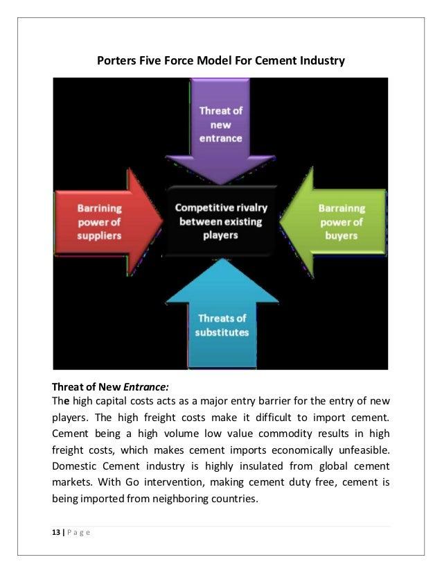Cement Industry Five Forces Model : Jk final report