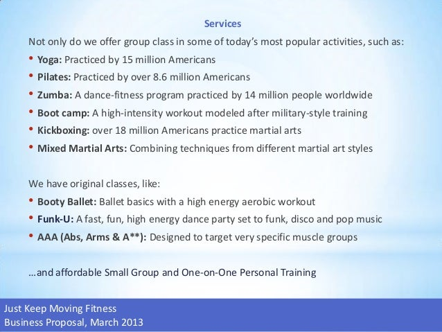 small group personal training business plan