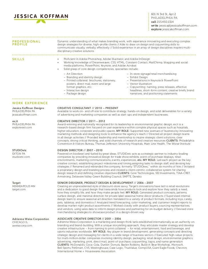 Visual Merchandising Resume