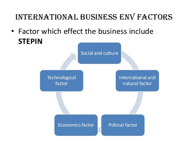 environmental factors affecting international market commerce essay Influence of macro-environmental factors to the process of integrating a foreign business entity  entities in foreign countries or on international markets have to deal with many.