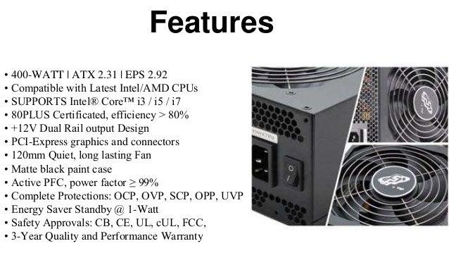 Fsp group 400 w atx power supply 12v 80 plus certified vital series (…