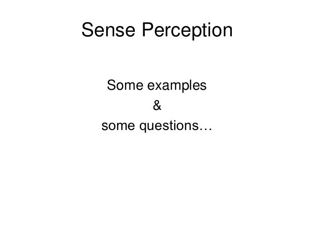 Introduction to Perception (page 2)