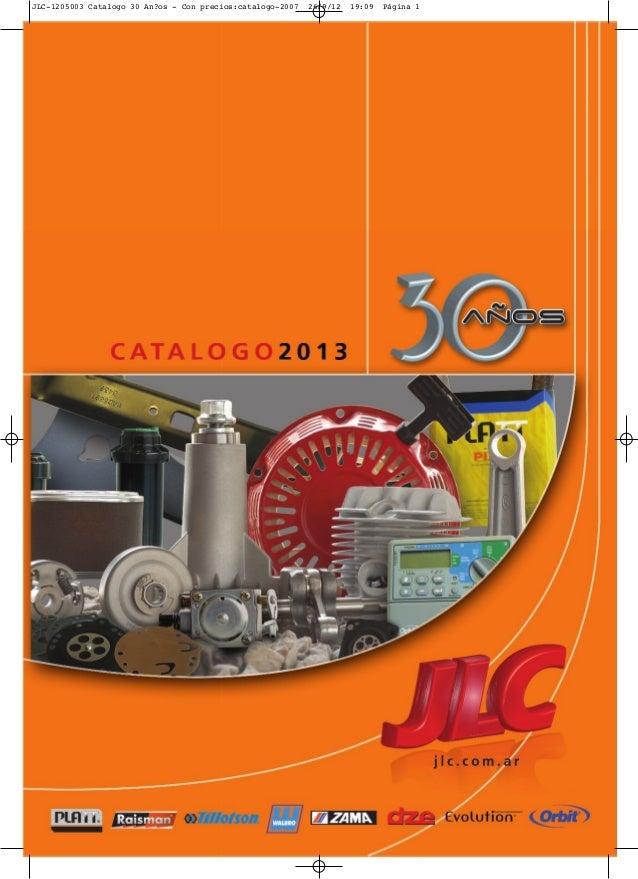 JLC-1205003 Catalogo 30 An?os - Con precios:catalogo-2007 26/9/12 19:09 Página 1
