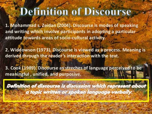 spoken discourse analysis turn taking Turn-taking is a type of organization in conversation and discourse where participants speak one at a time in alternating turns in practice, it involves processes.