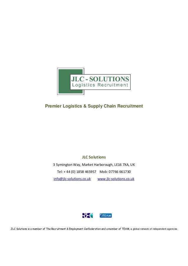 Premier Logistics & Supply Chain Recruitment                                                         JLC Solutions        ...