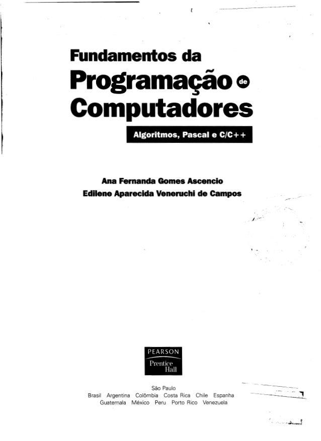 Fundamentos da programação de computadores   1ª edição