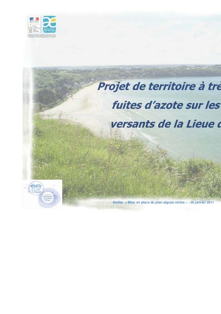 Atelier « Mise en place du plan algues vertes » - 26 janvier 2011   1