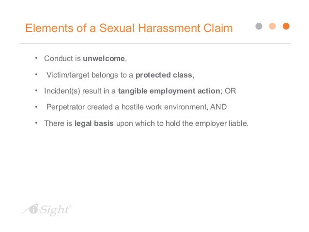 Employer investigation sexual harassment