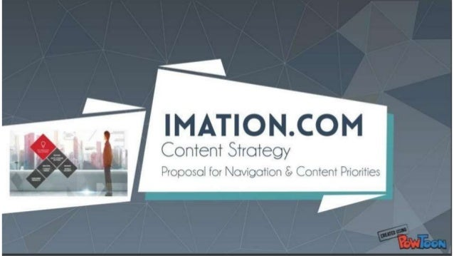 Imation Web Content Strategy