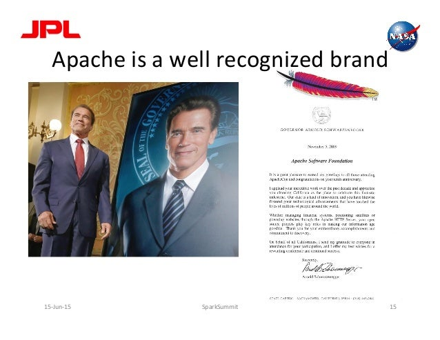 Apache  is  a  well  recognized  brand   15-‐Jun-‐15   SparkSummit   15