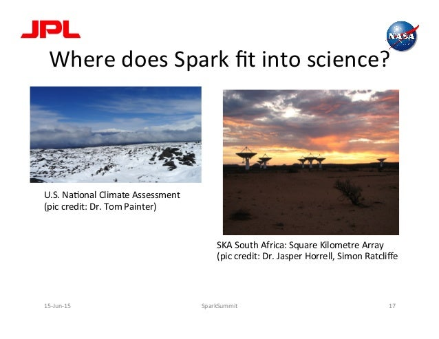 Where  does  Spark  fit  into  science?   U.S.  NaLonal  Climate  Assessment   (pic  credit:  Dr. ...