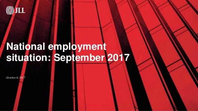 National employment situation: September 2017 October 6, 2017