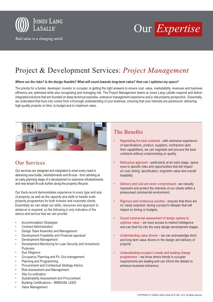 Project & Development Services: Project ManagementWhere are the risks? Is the design feasible? What will count towards lon...