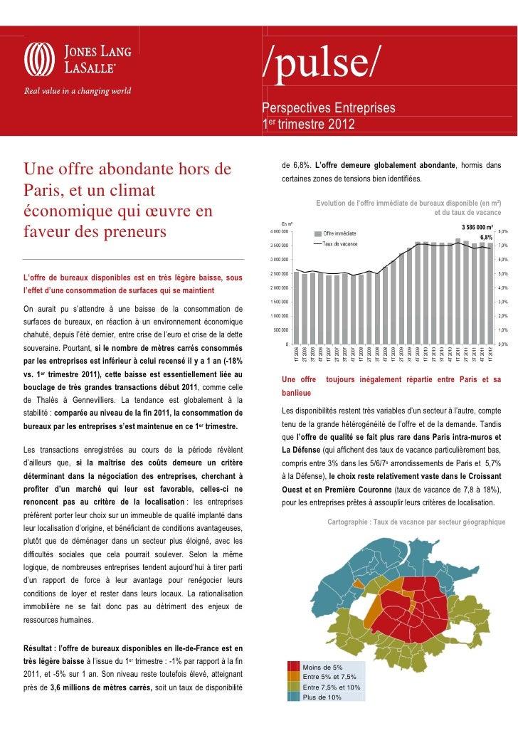 Perspectives Entreprises                                                                            1er trimestre 2012    ...