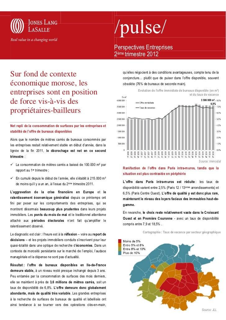 Perspectives Entreprises                                                                            2ème trimestre 2012   ...
