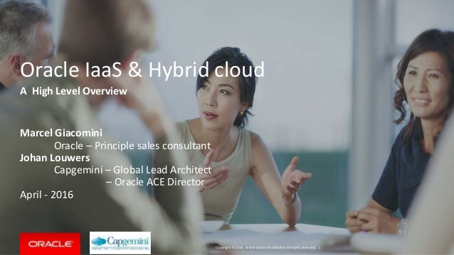 Copyright © 2016, Oracle and/or its affiliates. All rights reserved. | Oracle IaaS & Hybrid cloud Marcel Giacomini Oracle ...