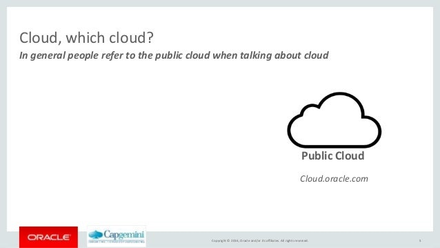 Oracle cloud, private, public and hybrid