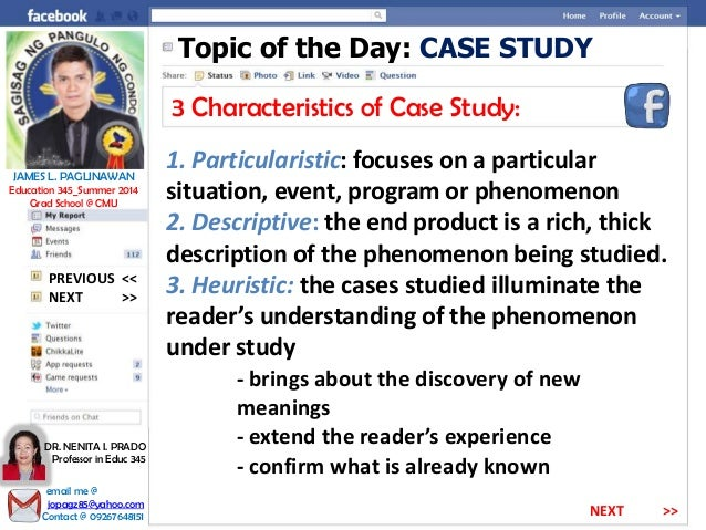 characteristics of case study research Think of a case study research paper as a complete, in-depth narrative about the specific properties and key characteristics of your subject of analysis applied to the research problem flyvbjerg, bent.