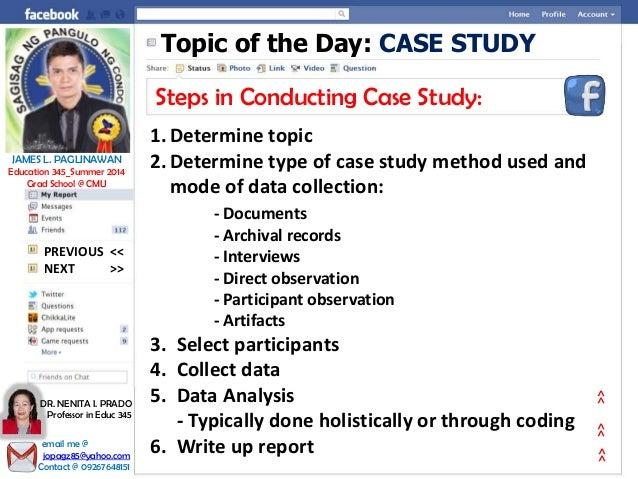 steps of case study method in psychology