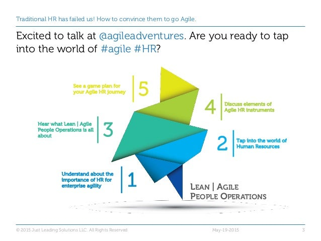 Adventures with Agile: Traditional HR has failed us! How to convince them to go Agile. Slide 3
