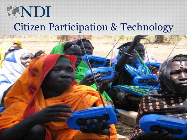 Citizen Participation & Technology