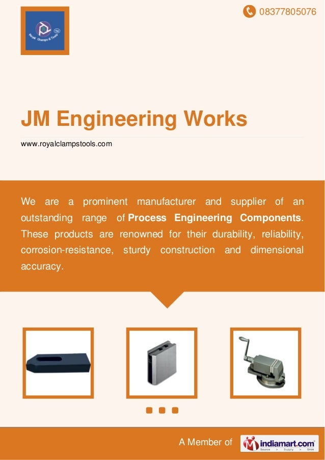 08377805076 A Member of JM Engineering Works www.royalclampstools.com We are a prominent manufacturer and supplier of an o...
