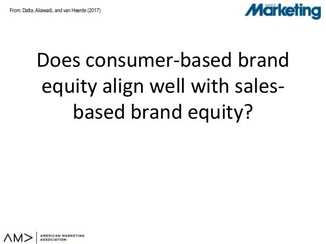 From: Does consumer-based brand equity align well with sales- based brand equity? Datta, Ailawadi, and van Heerde (2017)