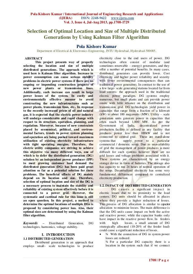 Pola Kishore Kumar / International Journal of Engineering Research and Applications (IJERA) ISSN: 2248-9622 www.ijera.com ...
