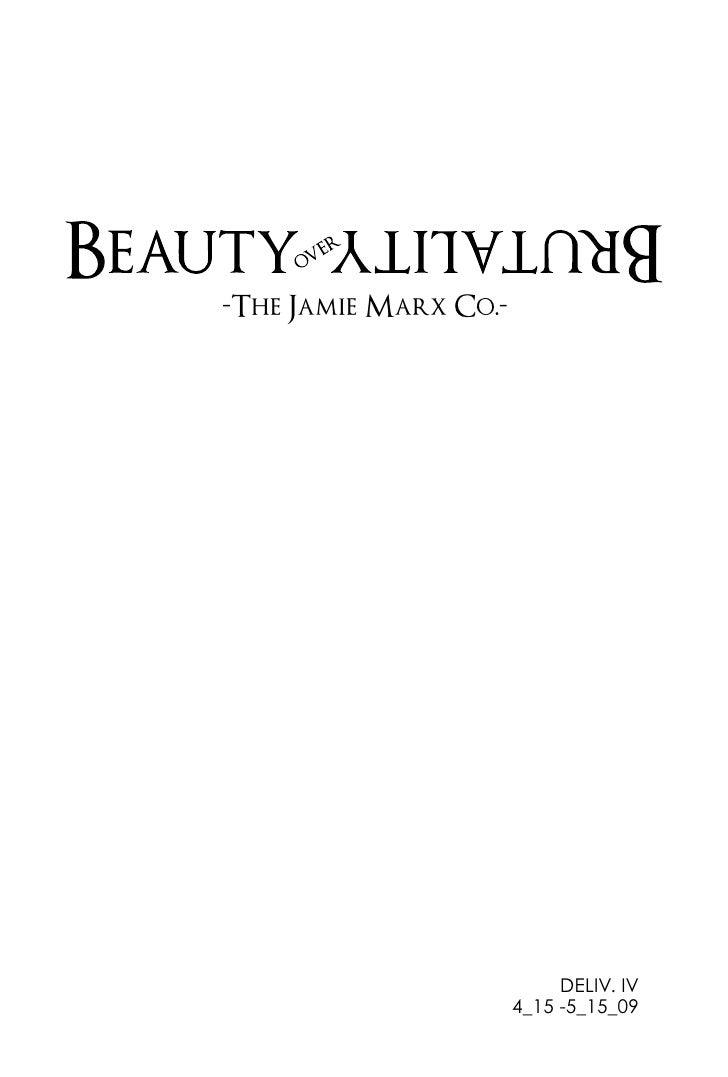 The Jamie Marx Co.                               DELIV. IV                      4_15 -5_15_09