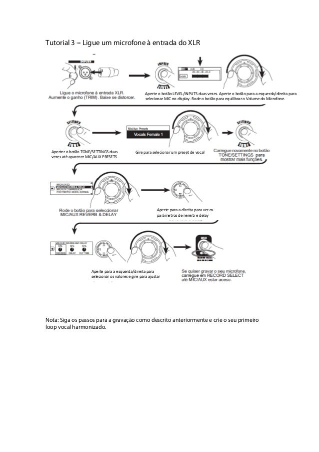 Manual do pedal Line 6 JM4 (PORTUGUÊS)