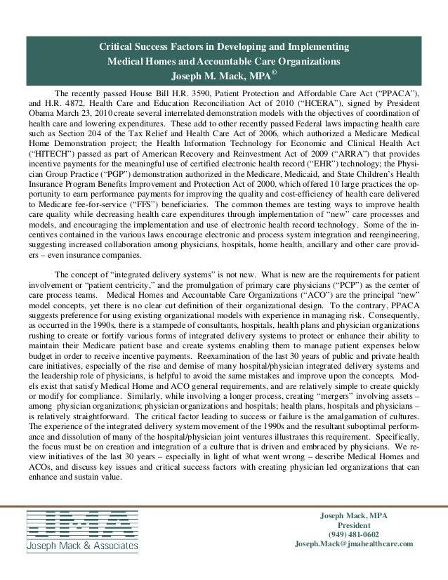 Page of 27 Joseph Mack, MPA President (949) 481-0602 Joseph.Mack@jmahealthcare.com The recently passed House Bill H.R. 359...