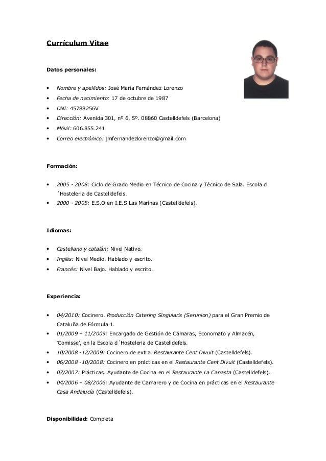 Jmariafernandezlorenzo curriculum