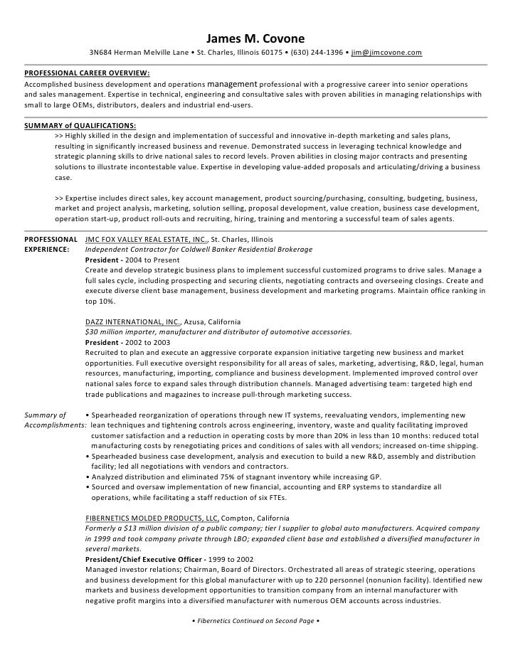 investor relations resume sample
