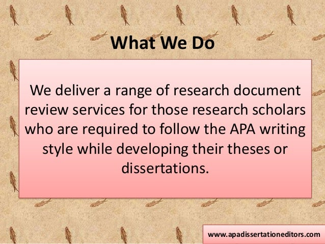 apa style dissertation editor Apa style dissertation editor - give your essays to the most talented writers get an a+ aid even for the most urgent assignments fast and reliable writings from.
