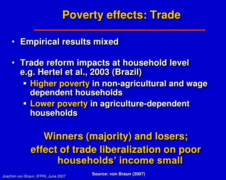 the impact of globalization on poverty Reduction in nigeria hence the impact of globalisation on poverty hinges on the extent to which the poor participate in the income-growth process, and.