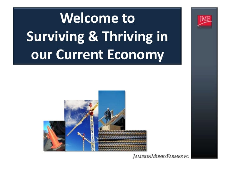 Welcome toSurviving & Thriving in our Current Economy