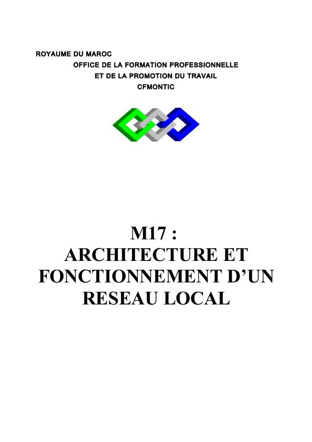 ROYAUME DU MAROC  OFFICE DE LA FORMATION PROFESSIONNELLE  ET DE LA PROMOTION DU TRAVAIL  CFMONTIC  M17 :  ARCHITECTURE ET ...