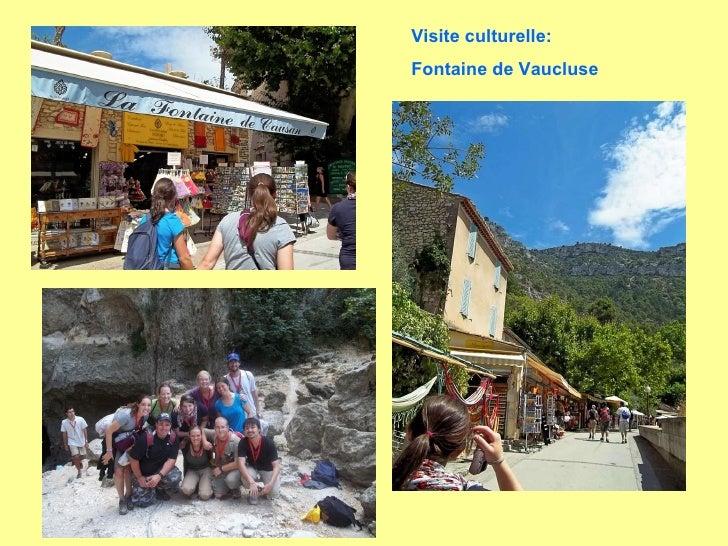 Visite culturelle:  Fontaine de Vaucluse