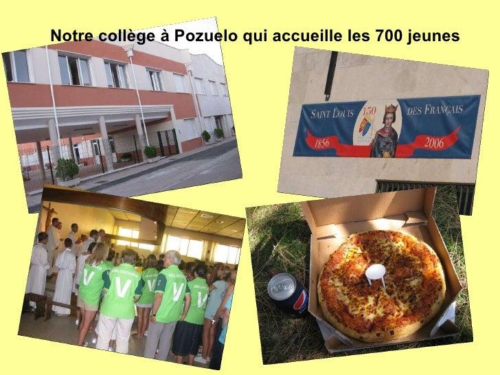 Notre collège à Pozuelo qui accueille les 700 jeunes