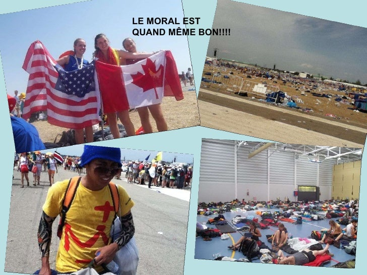 LE MORAL EST QUAND MÊME BON!!!!
