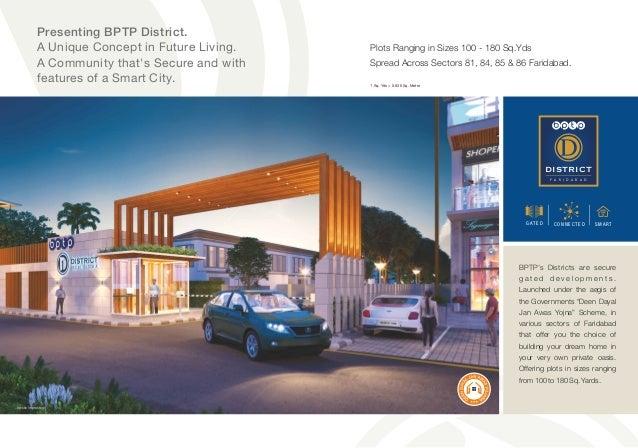 Bptp district BPTP Affordable Plots Faridabad under Deen Dayal Jan Awas Yojana