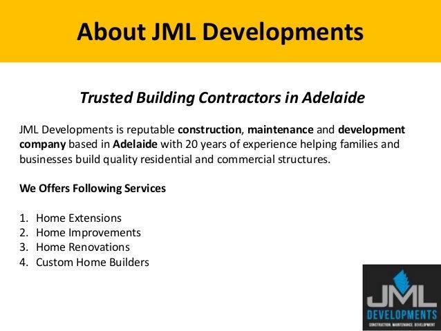 JML Developments Trusted Building Contractors In Adelaide; 2.