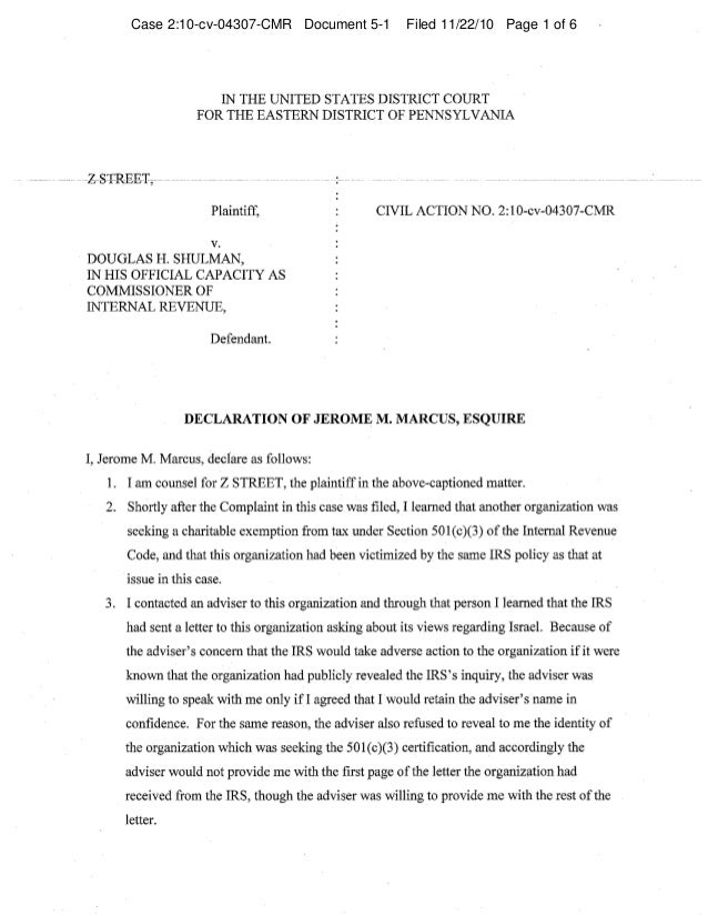 Case 2:10-cv-04307-CMR Document 5-1 Filed 11/22/10 Page 1 of 6