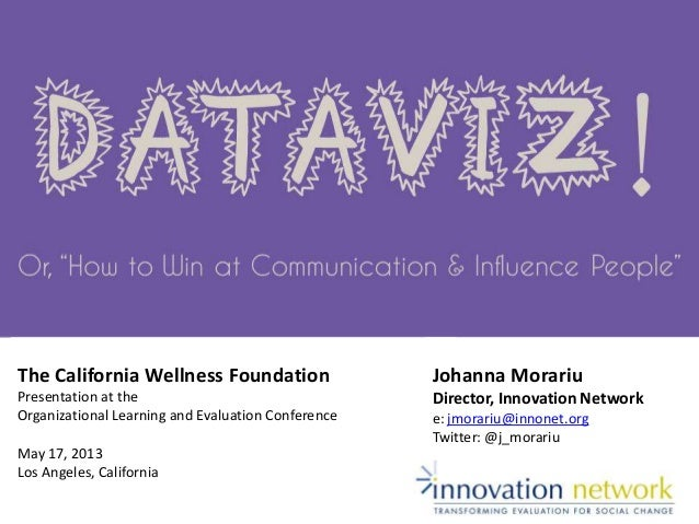 The California Wellness FoundationPresentation at theOrganizational Learning and Evaluation ConferenceMay 17, 2013Los Ange...
