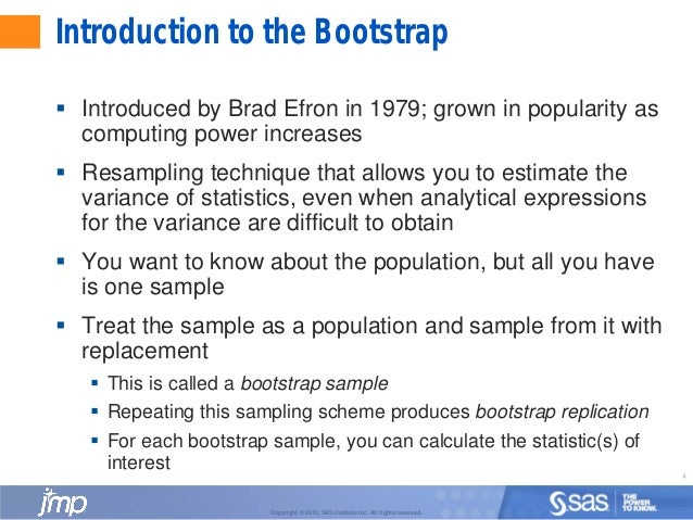 What is bootstrapping in statistics