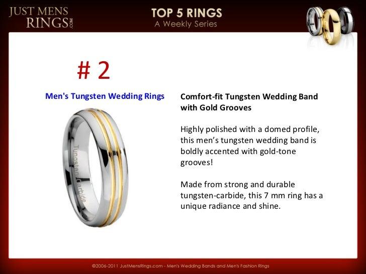 JMR Top 5 | Men's Tungsten Wedding Rings Slide 2