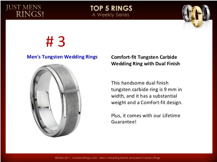 JMR Top 5 | Men's Tungsten Wedding Rings Slide 3