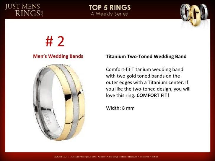JMR Top 5 Rings Weekly Series   Men's Wedding Bands Slide 2