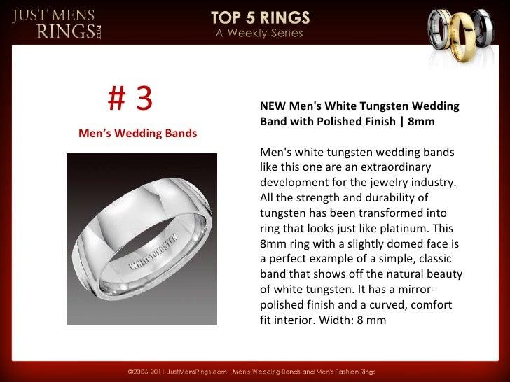 JMR Top 5 Rings Weekly Series   Men's Wedding Bands Slide 3